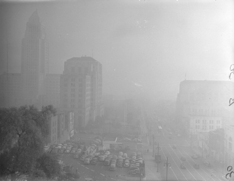 Los Angeles smog in the 1940s
